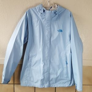 The North Face Light blue waterproof rain coat